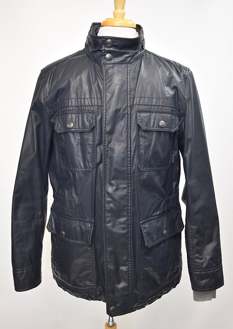 Coach Black Waxed Cotton Jacket Size Medium