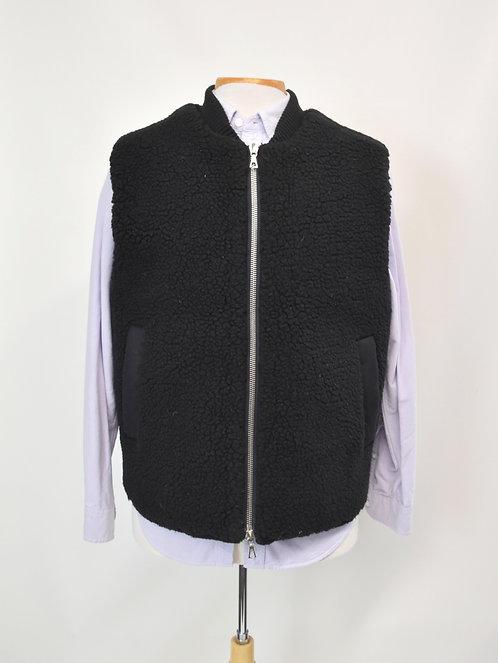 Officine Generale Black Sherpa Vest Size Large
