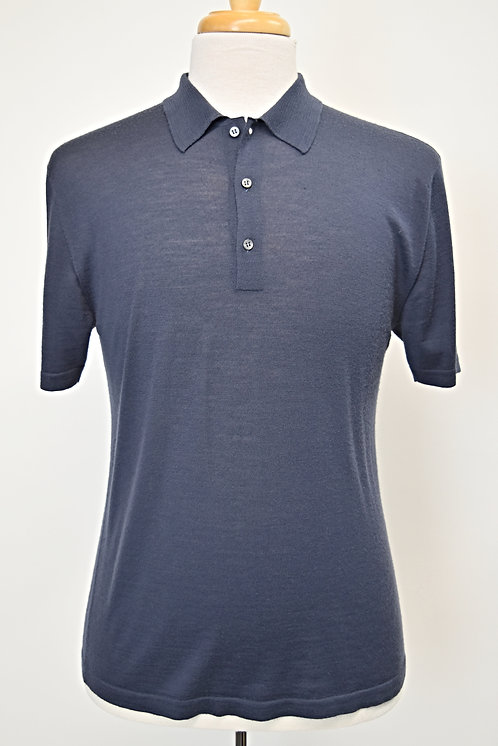 Want Les Essentiels Navy Wool Polo Size Medium