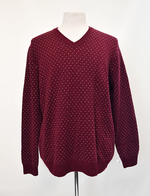 Brooks Brothers Maroon Knit Sweater Size Large
