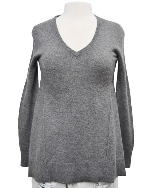 Scoop Gray Cashmere Sweater Size Small
