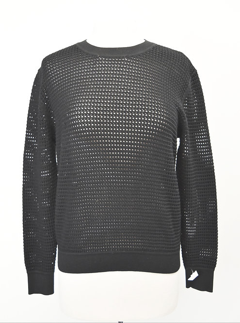 Theory Black Wool-Blend Sweater Size Medium