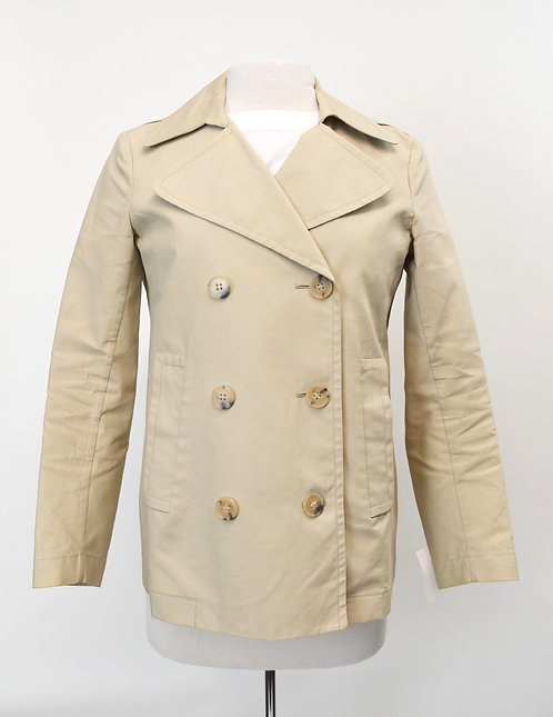 Theory Beige Peacoat Size Medium