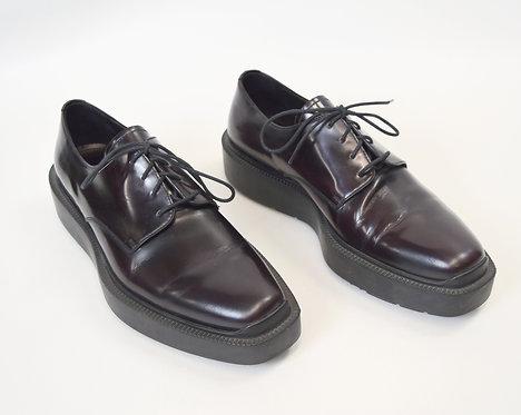 Prada Maroon Leather Shoes Size 8
