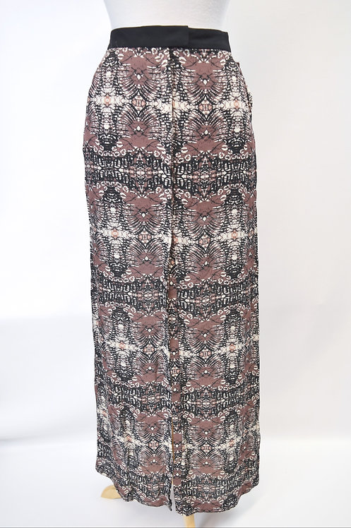 A.L.C. Brown Print Maxi Skirt Size Small