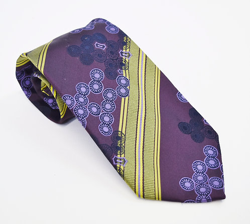 Kenzo Purple Print Silk Tie