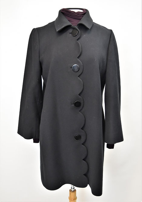 Kate Spade Black Scalloped Coat Size Medium (8)