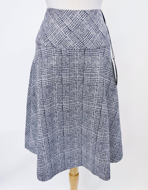 Escada Black & White Plaid Skirt Size Medium