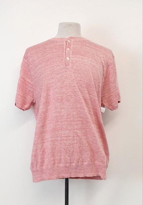 Bonobos Salmon Knit Short Sleeve Shirt Size XL