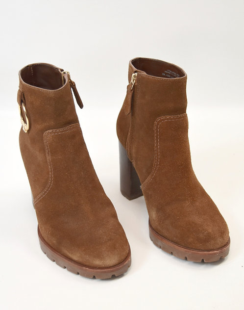 Tory Burch Brown Suede Booties Size 6