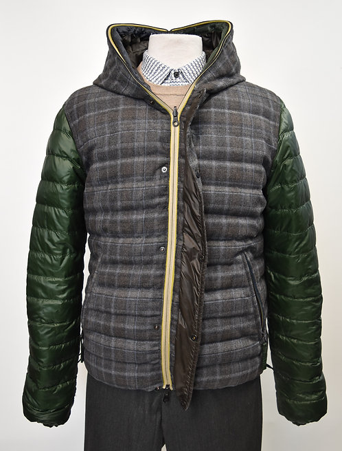 Duvetica Reversible Green & Brown Puffer Coat Size Large