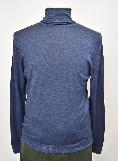Zanieri Navy Turtleneck Sweater Size Medium