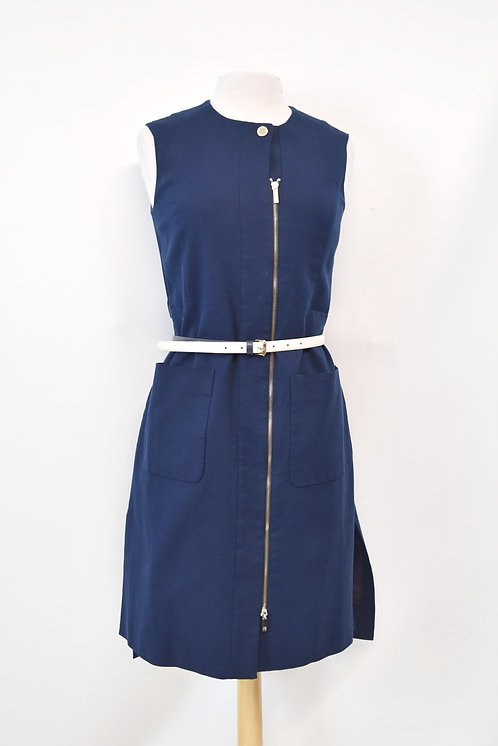Purificacion Garcia Navy ZipUp Dress Size Small
