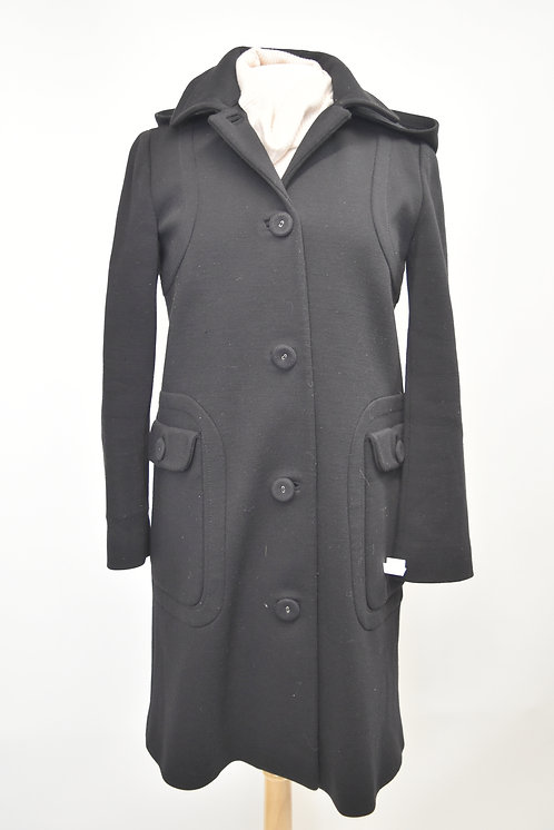 Barney's New York Black Wool Coat Size Small