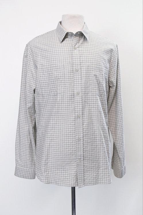 Vince Light Gray Plaid Shirt Size Large