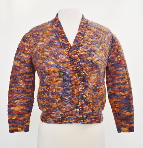 Marc By Marc Jacobs Multi Colored Knit Cardigan Size XS