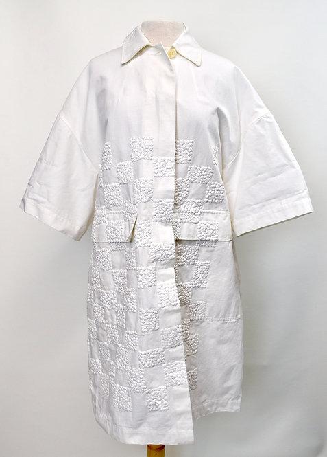 Dries Van Noten White OverSized Coat Size Small (6)