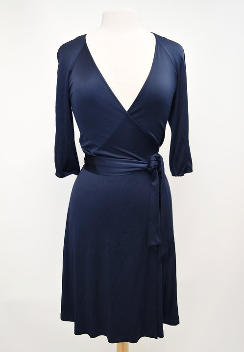 Diane Von Furstenberg Navy Wrap Dress Size 6