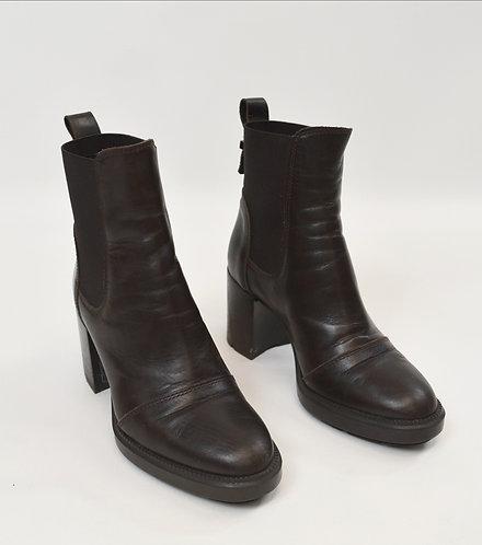 Aquatalia Brown Leather Heeled Boots Size 6