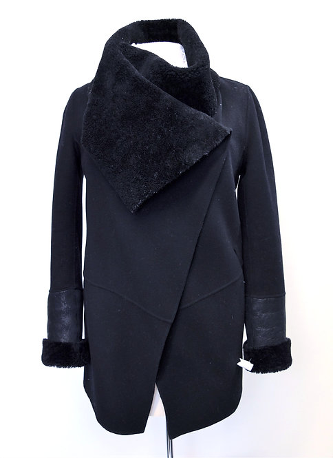 Mackage Black Shearling Trim Jacket Size XS