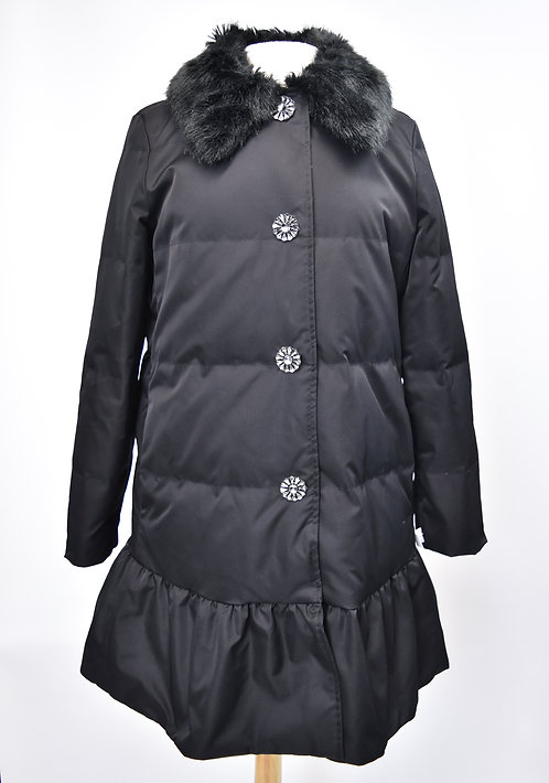 Kate Spade Black Quilted Coat Size Small (6)