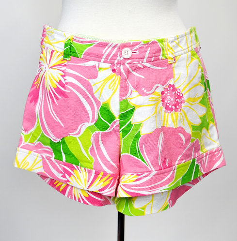 "Lilly Pulitzer Floral ""Palm Beach Fit"" Shorts Size 8"
