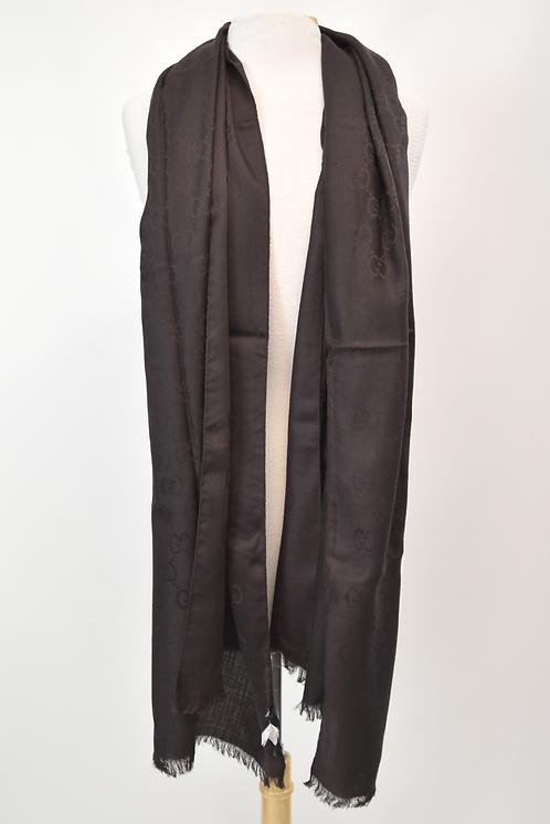 Gucci Brown GG Monogram Wool/Silk Scarf