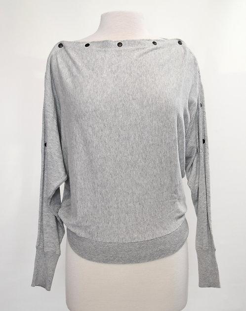 AllSaints Gray Cotton Sweater Size XS