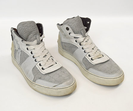 Lanvin Gray Leather High-Tops Size 10