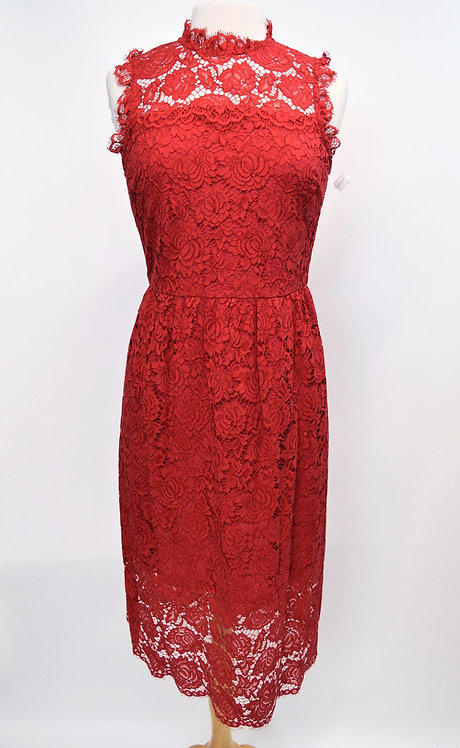Kate Spade Red Lace Dress Size 8