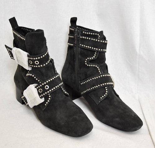 Jeffery Campbell Gray Studded Booties Size 8.5