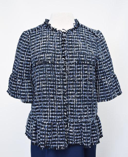Kate Spade  Black & Blue Tweed Jacket Size Medium