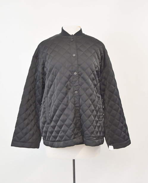 ATM Black Quilted Jacket Size Small