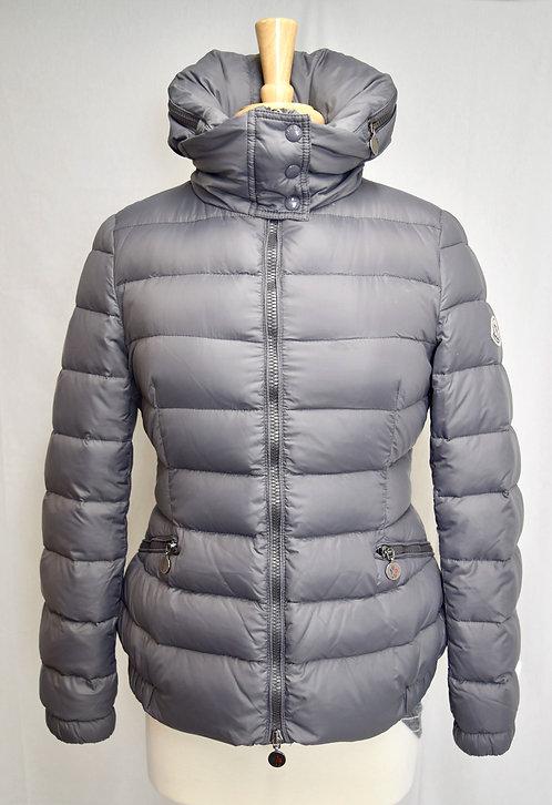 Moncler Gray Hooded Puffer Coat Size Medium (2)