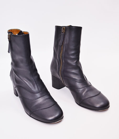 Chloe Black Leather Booties Size 11