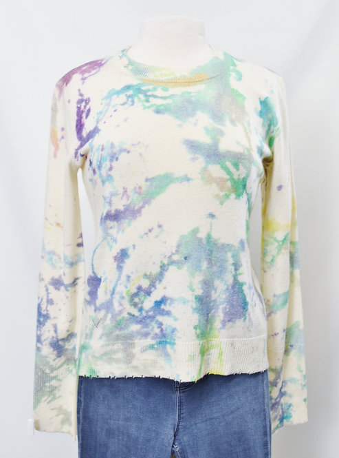Zadig & Voltaire Ivory Watercolor Sweater Size Small