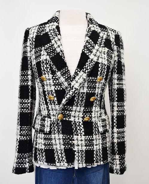 L'Agence Black & White Plaid Jacket Size 4