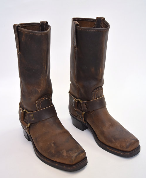 Frye Brown Leather Harness Boots Size 7