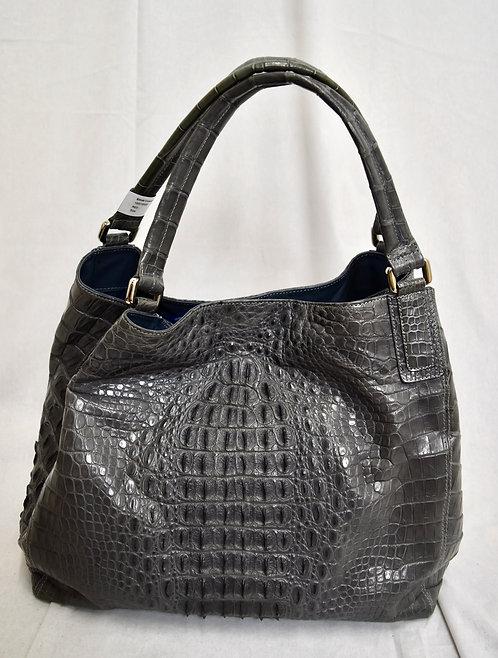 "J Markell ""Julie"" Gray Crocodile Skin Tote Bag"