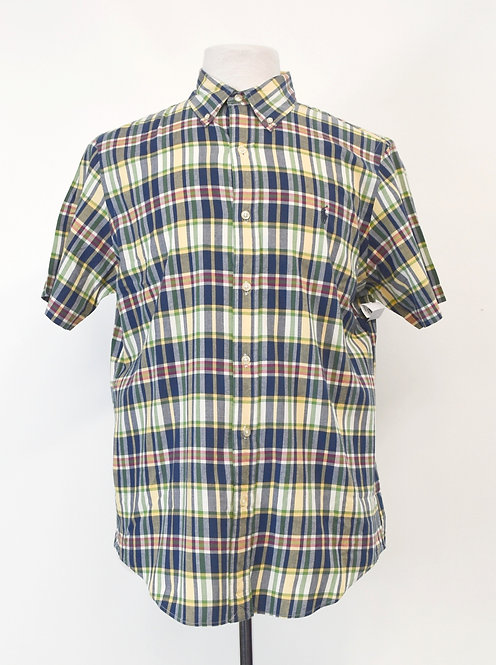 Ralph Lauren Blue & Yellow Plaid Shirt Size Medium