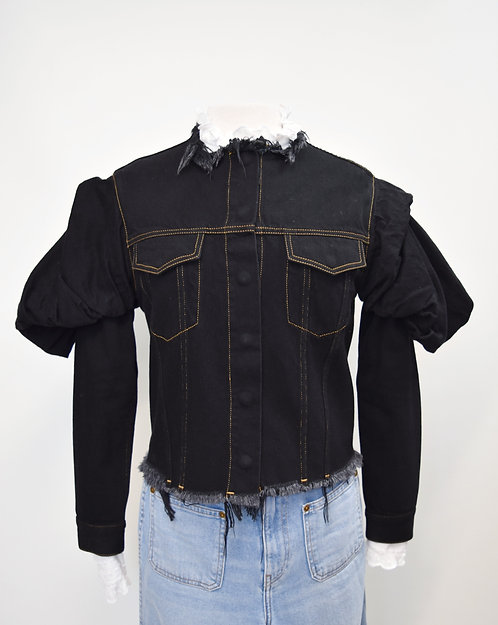Marques Almeida Black Denim Jacket Size Med/Large