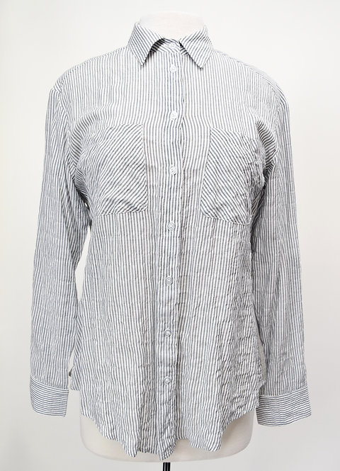 Drew Gray Stripe Blouse Size XS/Small
