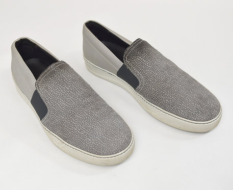 Lanvin gray Leather Slip-On Sneakers Size 10.5