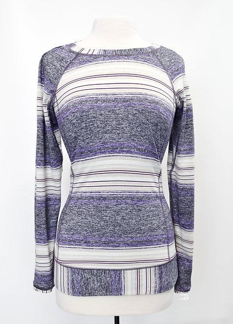 Lululemon Purple Stripe Sweater Size 6
