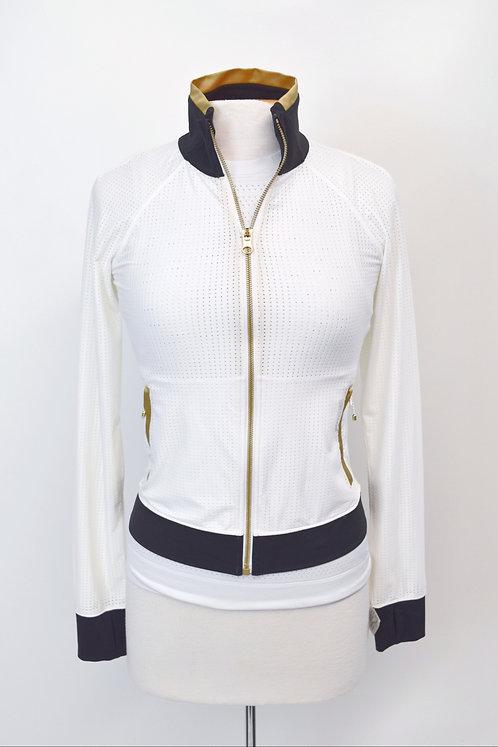 Lululemon White Mesh Jacket Size Small (4)