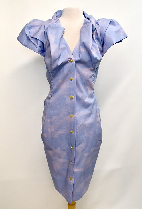 Vivienne Westwood Blue Structured Dress Size 8