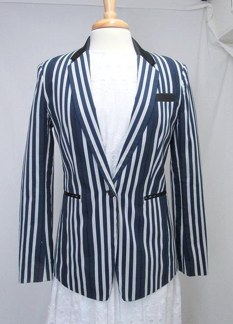Rag & Bone Navy Stripe Blazer Size Small (6)