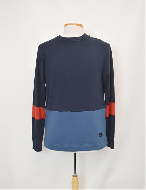 Paul Smith Navy & Blue Sweater Size Large