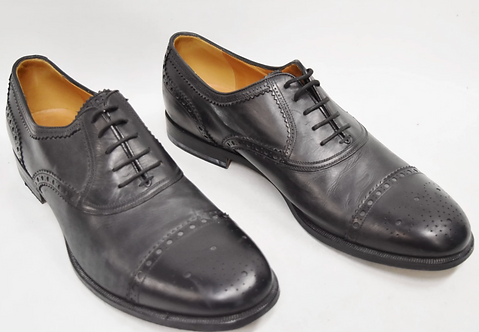 Gucci Black Leather Shoes Size 10