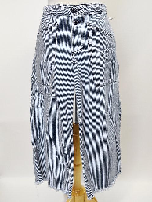 NSF Blue Stripe Wide Leg Pants Size 27